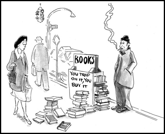 Street Vendor Selling Books